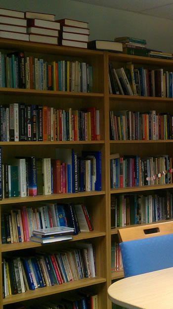 Catalyst Counselling's extensive library